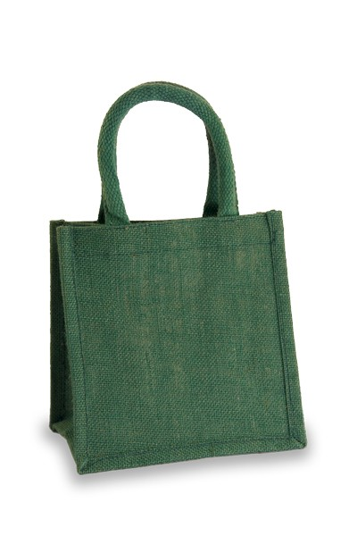 Jute Lunch Gift Bag in Forest Green