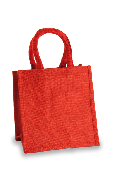 Jute Lunch Gift Bag in Red