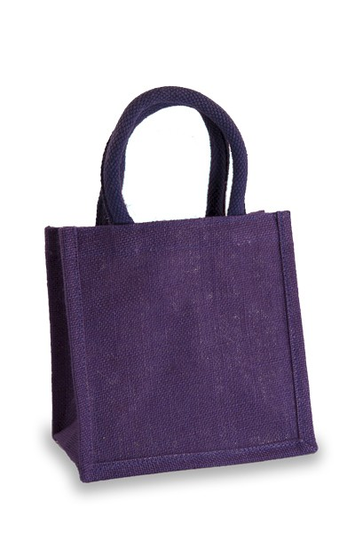 Jute Lunch Gift Bag in Purple