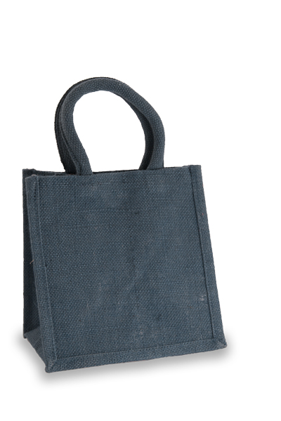 Jute Lunch Gift Bag in Navy Blue
