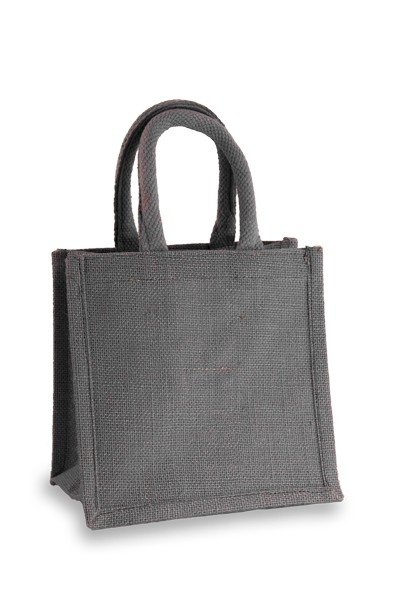 Jute Lunch Gift Bag in Denim Blue
