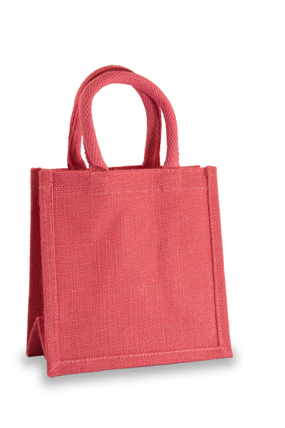 Jute Lunch Gift Bag in Pink