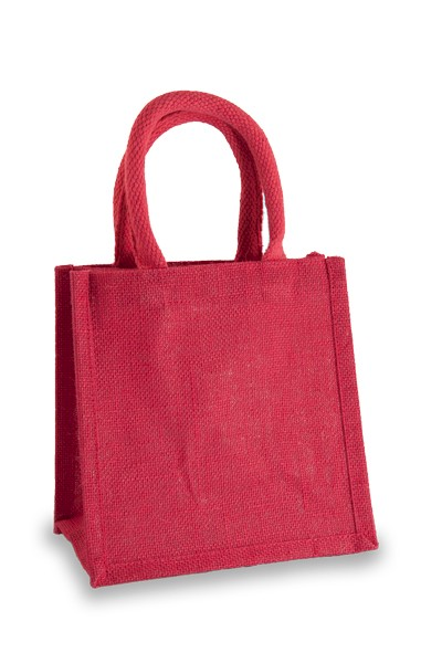 Jute Lunch Gift Bag in Fuchsia
