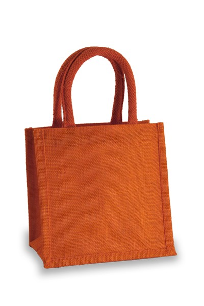 Jute Lunch Gift Bag in Orange