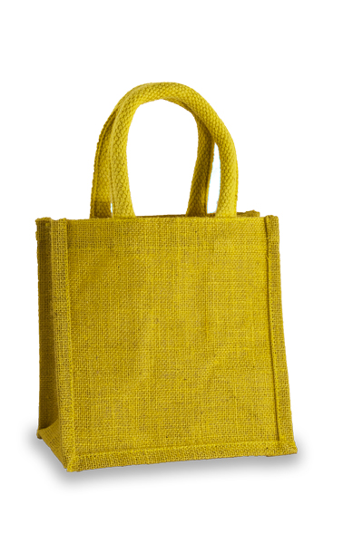 Jute Lunch Gift Bag in Yellow