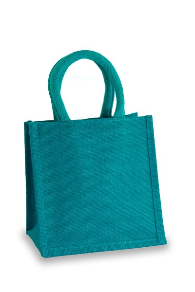 Jute Lunch Gift Bag in Turquoise