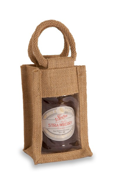 Medium Single Jar Bag in Natural Jute