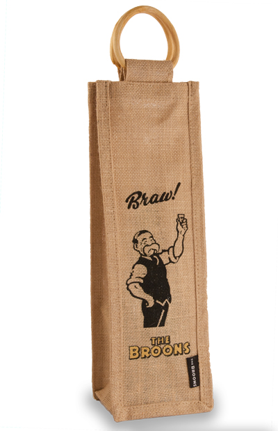 Paw Broon's Jute Bottle Bag