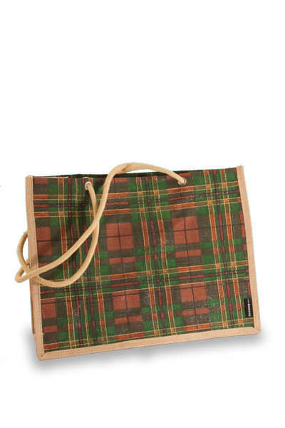 The Broons Tartan Jute Shopper