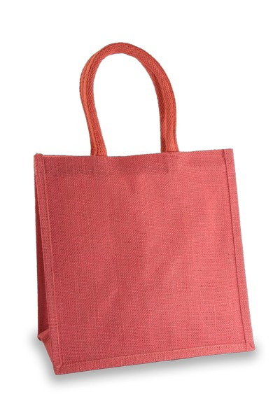 Medium Pink Jute Shopper
