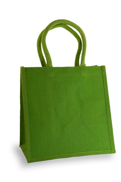 Medium Lime Green Jute Shopper