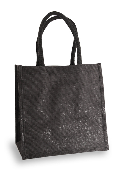 Medium Black Jute Shopper