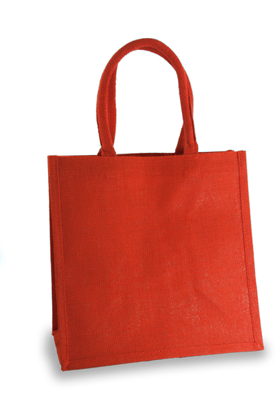 Medium Red Jute Shopper