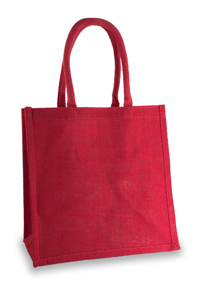 Medium Fuchsia Jute Shopper