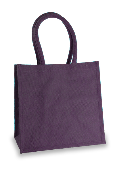 Medium Purple Jute Shopper