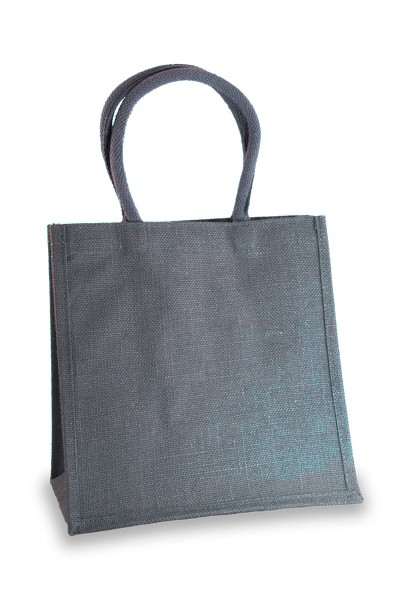 Medium Denim Blue Jute Shopper
