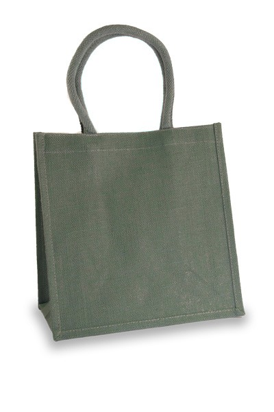Medium Steel Grey Jute Shopper