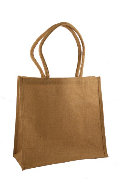 Large Jute Shopping Bag with Long Handles