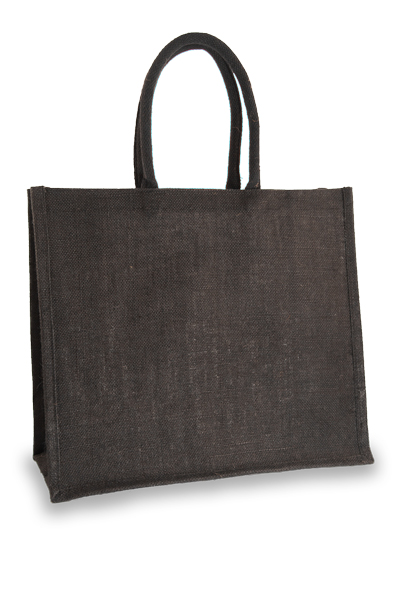 Large Black Jute Shopper