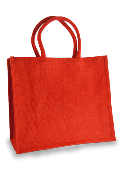 Large Red Jute Shopper