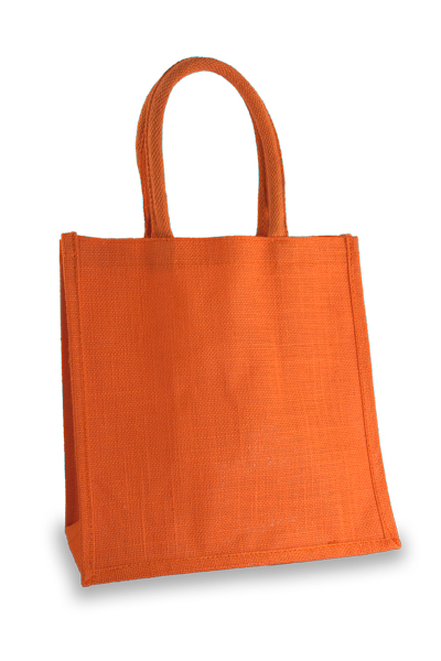 Medium Orange Jute Shopper
