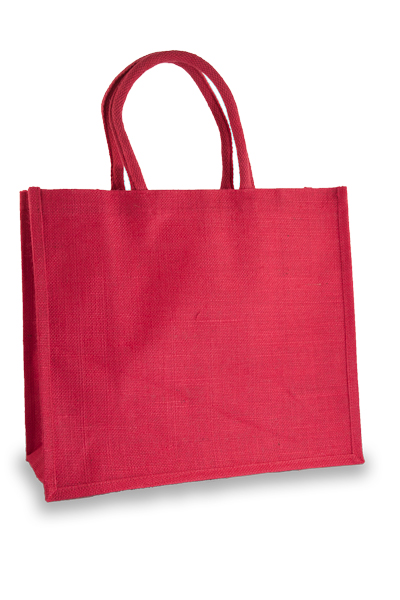 Large Fuchsia Jute Shopper