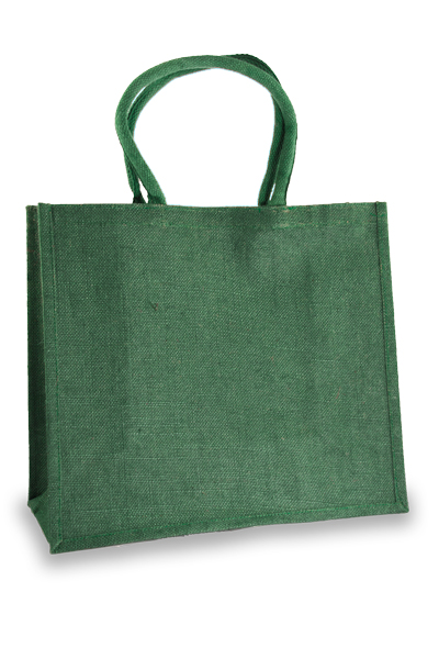 Large Forest Green Jute Shopper