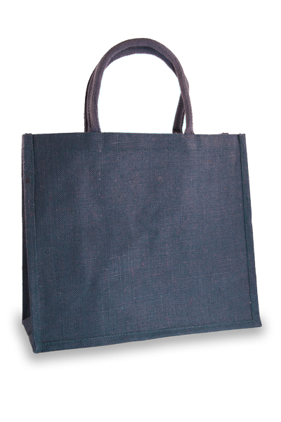 Large Navy Blue Jute Shopper