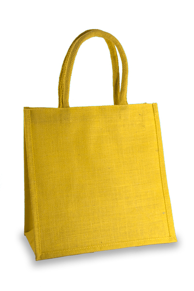 Medium Yellow Jute Shopper