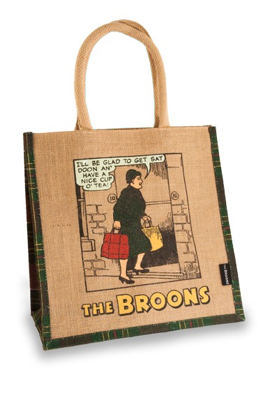Maw Broon's Cup of Tea Medium Jute Shopper