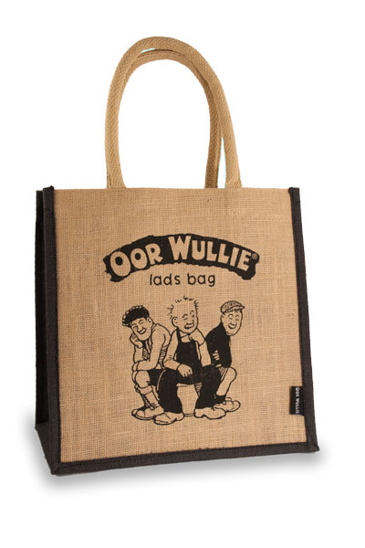 Oor Wullie Lads Bag Medium Jute Shopper