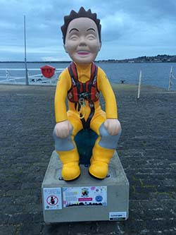 Oor Wullie at Broughty Ferry Lifeboat Shed